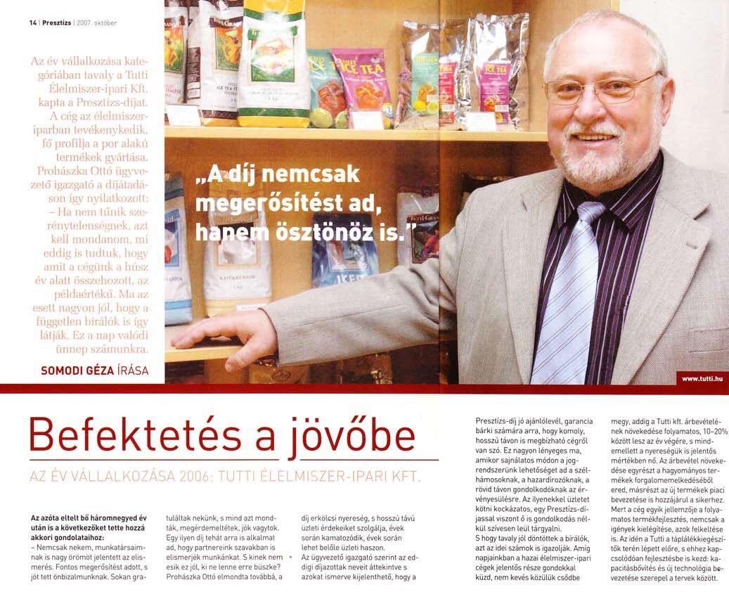 2007. október - Presztízs Magazin