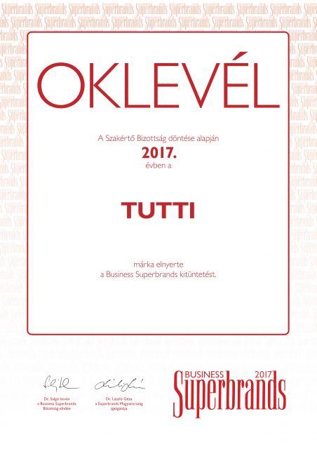 Business Superbrands díjas a TUTTI Kft.